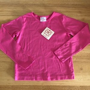 NWT HANNA ANDERSSON Pink ls shirt sz 130